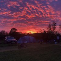 sunset in the campsite