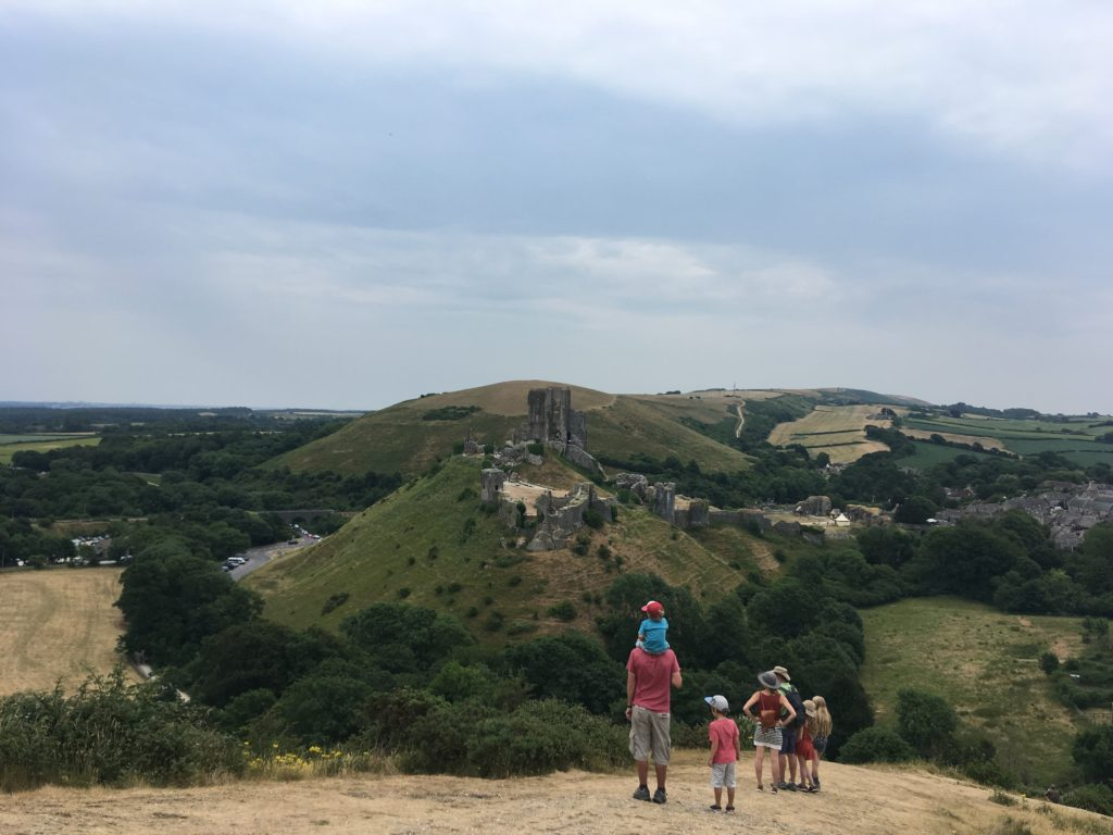 corfe castle, space and views this summer